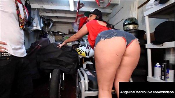 Massive Titty BBW Angelina Castro Sucks Off Hard Mechanic