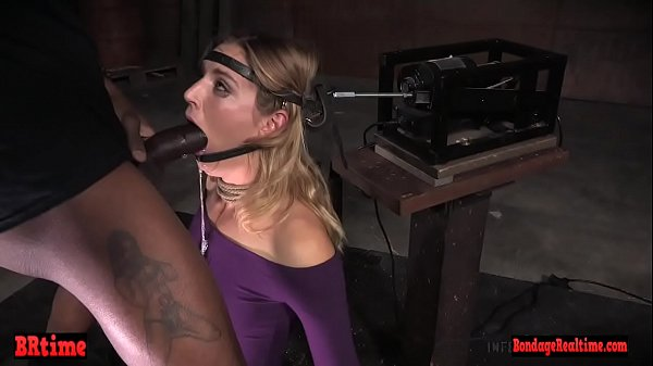 BDSM sub throatfucked by masters in closeup Thumb