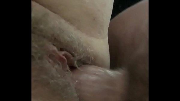 Hairy milf enjoys