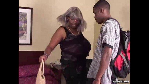 BBW Black Granny Has Big Tits