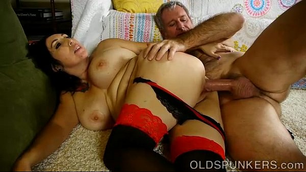 Beautiful busty mature brunette loves a sticky ...