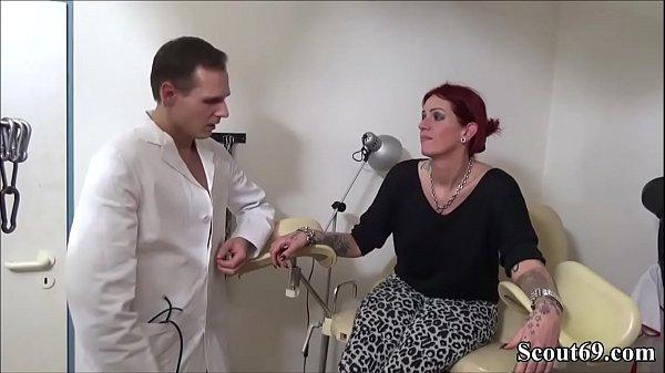 Doctor and Helper Seduce Redhead German Teen to Fuck