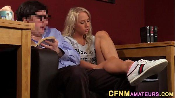 Cfnm blonde works shaft Thumb