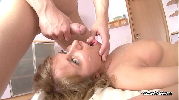 Cute Teen Handles a Big Cock and Swallows Every...