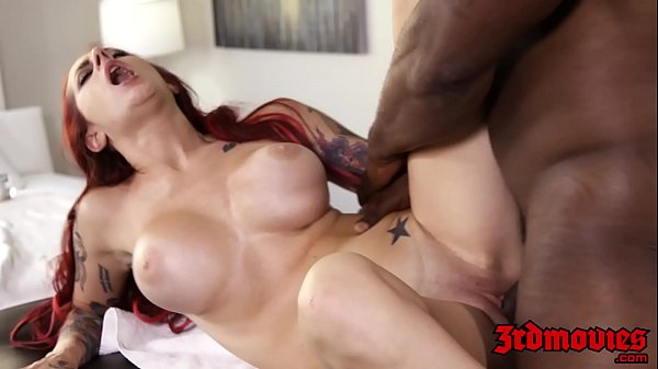 Redhead slut Tana Lea screwed hard by black masseur