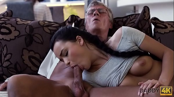 DADDY4K. Old and young lovers have spontaneous sex behind guy's back Thumb
