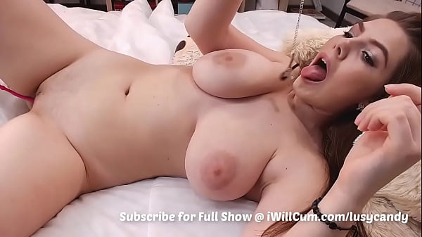 Huge Titted Gorgeous MILF Does Intense Squirting Thumb