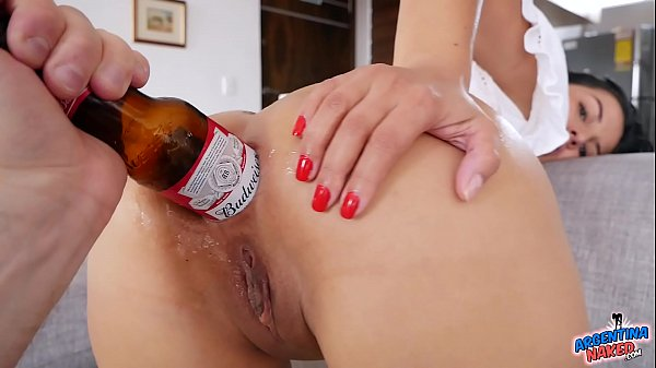 Bottle and Can In Latina Asshole Self Fisting Super Hot Babe
