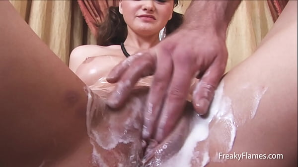 Tiny bitch shaved by stepbrother to get fucked long and well hard into pussy