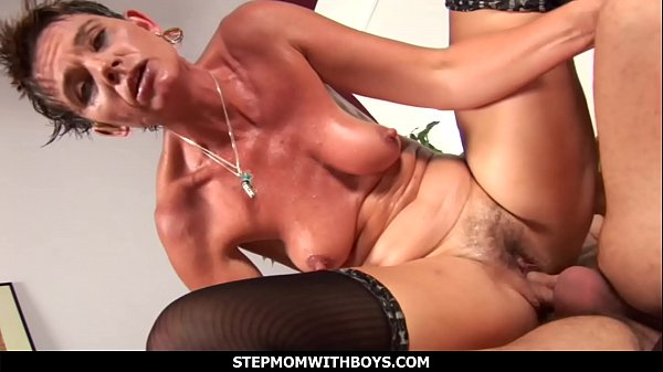 StepmomWithBoys - Sultry Hot Stepmom In Lingerie Fucked By Stepson