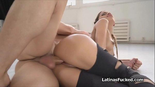 Ass shaking oiled Latina cocked hard