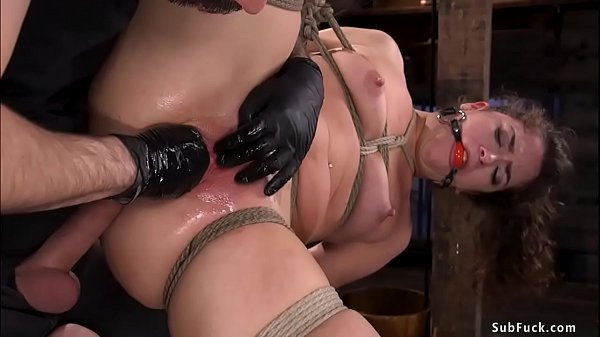 Bound babe fisted and anal fucked Thumb