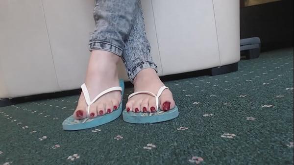 Feet bbw flipflops
