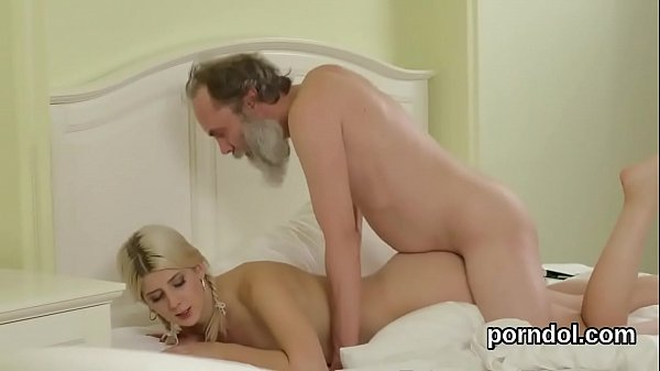 Sensual college girl was seduced and banged by older instructor