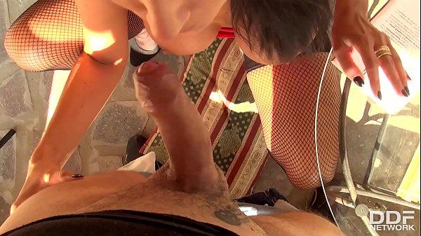 POV Blowjob Shows Young French Pornstar Ania Kinski Swallow Big Hard Dick