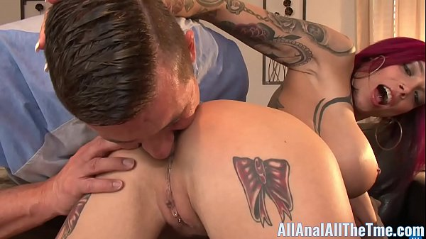 Tattoo Babe Anna Bell Peaks Spreads Ass To Get Licked! Thumb