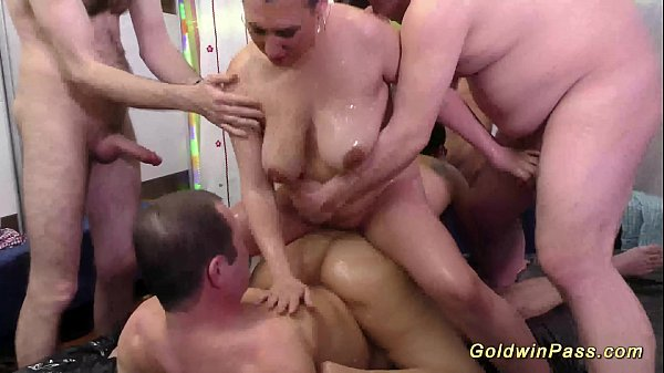 crazy chubby spandex girls in a real fuck orgy