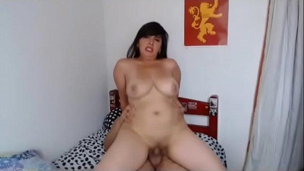 curvy fat chick riding cock thumbnail