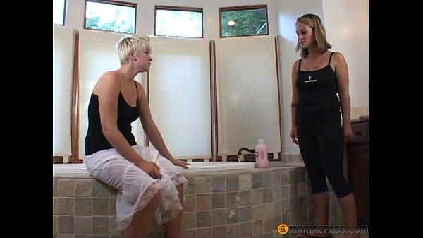 Mom and my girlfriend in a bathtub