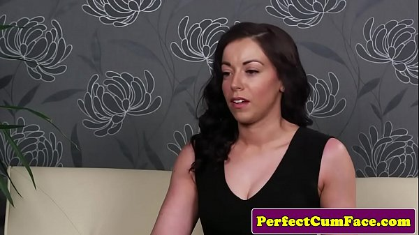 Alluring stockinged babe cocksucks POV