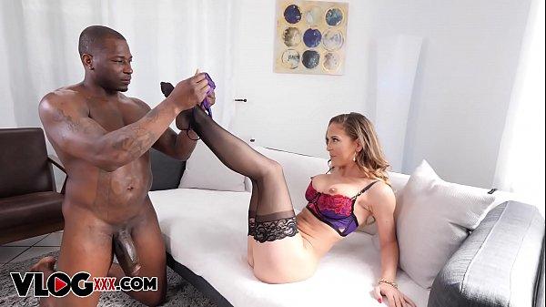 Cheating black skank fucks white cocks