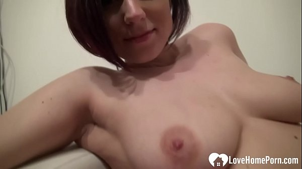 Brunette with nice tits shows her goodies