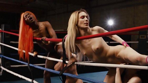 Four wrestler girls in lick mode - Aiden Ashley, Ana Foxxx, Whitney Wright, Brandi Mae