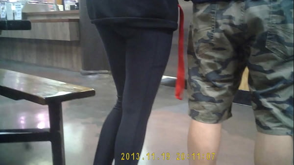 Public hidden candid spycam teen tights