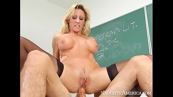 Naughty America - Find Your Fantasy Regan Anthony fucking in the classroom with her tits
