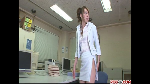 Fondled and fucked from behind in the office