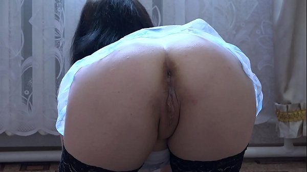 Original inserts in anal, gaping hole in a juicy ass and foot fetish in nylon. Brunette masturbating pussy and anal