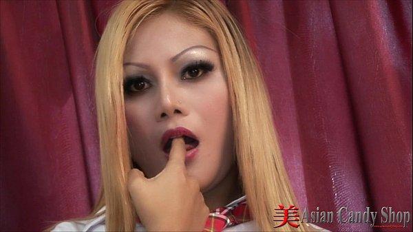 Blonde Thai Girl Sucking Cock