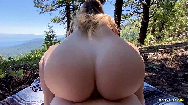 College Slut Gets Railed on Mountainside - MOLLY PILLS - Public Adventure Porn POV