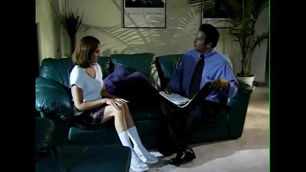 The unaware schoolgirl takes the professor