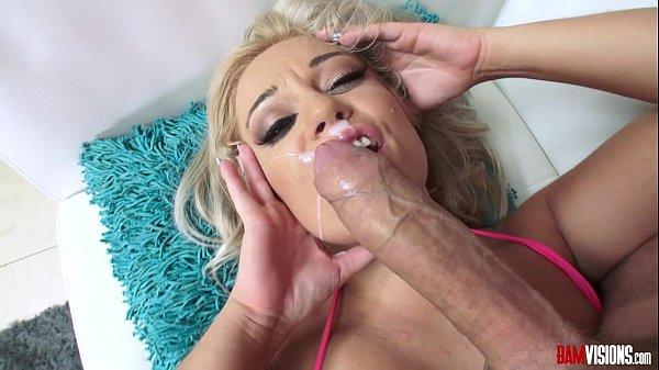 Kenzie Green Sucks Big Cock then gets Ass Fucked, Facial