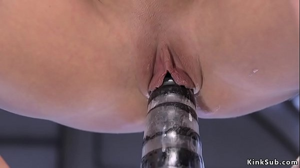 Busty Milf rides monster dildos and machine  thumbnail