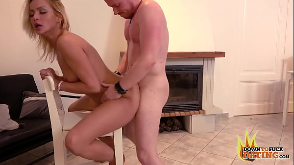 DownToFuckDating - PETITE SLUTTY BLONDE CHERRY KISS FISTS HER PUSSY AND FUCKS ON FIRST DATE