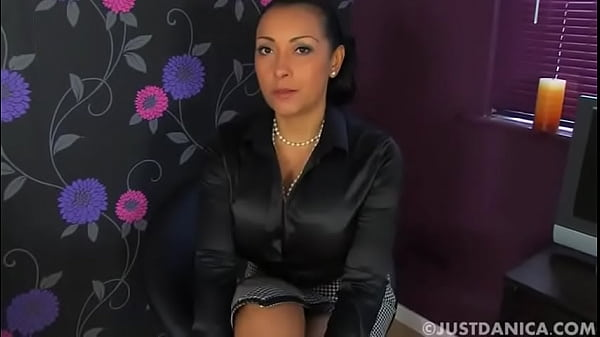 Danica wearing black satin blouse Thumb