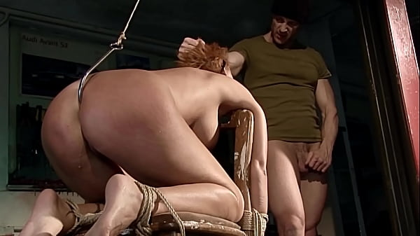 Seductive gorgeous milf Leonie tied, enslaved by me. Part 3. I opening her brown hole with anal hook, before I fuck it.