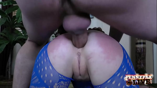 Redhead Anal Freak Penny Pax Ass Packed In Crotchless Bodysuit