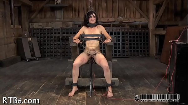 Painful clamping for beauty's milk sacks Thumb
