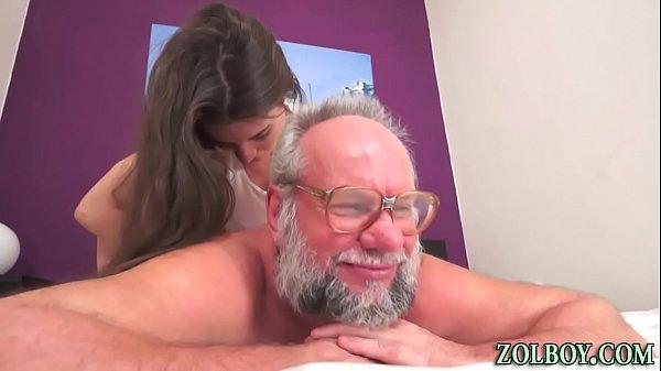 Teen masseuse creampied