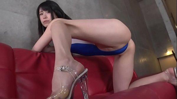 Ayaka Hirose High-leg leotard blue legs-fetish ...