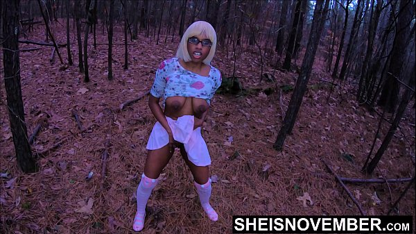 4K Cornered For Debauched Sex, My Nerd Step Daughter Msnovember Cornered In The Forest , Public Ebony Rough Riding POV & Crawling With Juggs Out On Sheisnovember Thumb