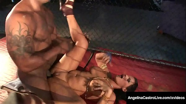 Phat Ass Latina Angelina Castro Dominates BBC In Caged Fight