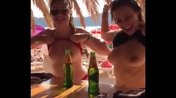 Girl Flashes Boobs