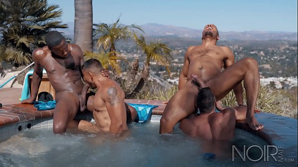 NOIR MALE Pool Boy Initiated into All HUNK ORGY...