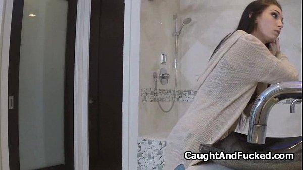 Hot big tit teen filmed on hidden cam