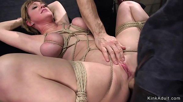 Big tits Milf slave anal stuffed in bdsm