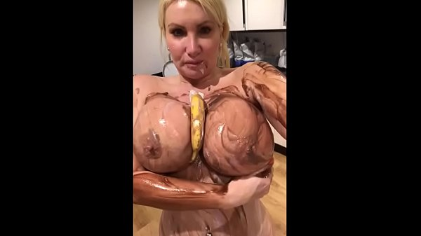 Huge 34JJ tits messy food fetish play - TheSophieJames.com